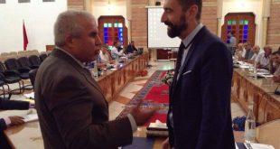 محمد أزلماط رئيس المجلس الإقليمي لصفرو يستقبل وفد من مجلس Departement d'Ille et Vilaine الفرنسي الذي يقوم بزيارة عمل