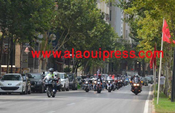 جمعية الأصدقاء الدراجين فاس-مكناس 2AM تخلد بأهم شوارع مدينة فاس وبطريقتها الإحتفالية الخاصة، الذكرى 17 لعيد العرش المجيد