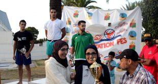 تتويج نادي السلام الرياضي الفاسي للسباحة بالنسخة الثانية لكأس ولي العهد الأمير المحبوب مولاي الحسن في رياضة كرة الماء