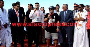 دييغو مارادونا وإيكو وضيوف مهرجان العيون للشعر العالمي يخلدون بمدينة العيون الذكرى 41 للمسيرة الخضراء