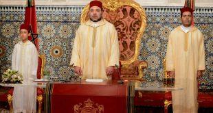 جـلالة المـلك محمد السادس حفظه الله ونصره يوجه خطاب العـرش إلى الأمة مساء يومه السبت