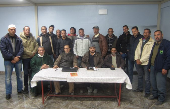 """تأسيس مكتب نقابي لمهنيي سيارة الأجرة الصنف الأول """"UNTM"""" بمدينة خريبكة"""