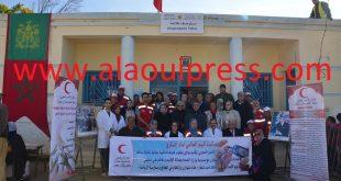 الهلال الأحمر المغربي ومندوبية الصحة إقليم مولاي يعقوب يصنعان الحدث الطبي بإمتياز بدوار الطلاحة جماعة سبع رواضي