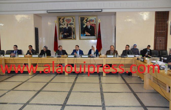المصادقة بالإجماع على النقط المدرجة في جدول أعمال الجلسة الأولى من الدورة العادية لمجلس عمالة فاس لشهر يناير 2019