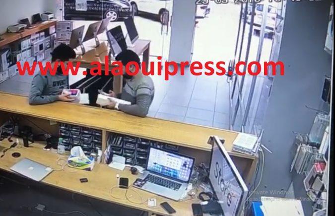 كاميرات المراقبة المتبثة تكشف هوية شبكة إجرامية اقترفت سرقة هواتف ذكية وساعة يدوية بمحل لبيع الأجهزة الإلكترونية