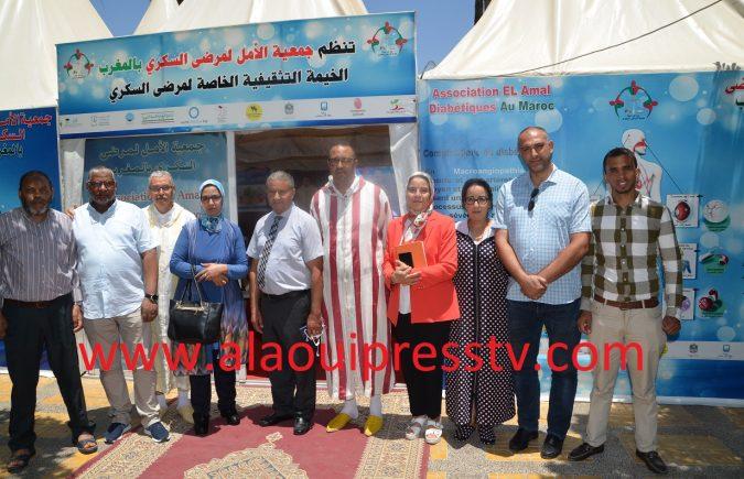المدير الجهوي للصحة د بلوطي يتفقد خدمات القرب بخيمة جمعية الأمل لمرضى السكري وشاحنة التبرع بالدم
