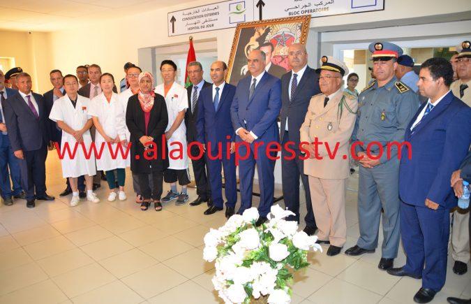 الوالي السعيد زنيبر وعامل الإقليم المَعَزَّة يشرفان على إنطلاقة الخدمات بمستشفى النهار إبن باجة تازة