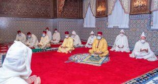 أمير المؤمنين جلالة الملك محمد السادس حفظه الله يؤدي صلاة عيد الفطر السعيد بدون خطبة
