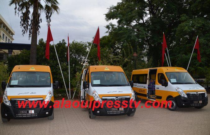 مجلس عمالة فاس ينخرط بجدية في دعم تمدرس الأطفال في وضعية إعاقة : اقتناء وتوزيع سيارات النقل المدرسي