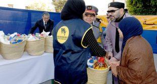 بتعليمات ملكية سامية انطلقت عملية توزيع الدعم الغذائي رمضان 1441 لفائدة 600 الف أسرة معوزة