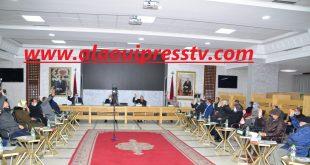 مجلس عمالة فاس يصادق بالإجماع على النقطتين المدرجتين في جدول أعمال الجلسة الأولى من دورة يناير العادية